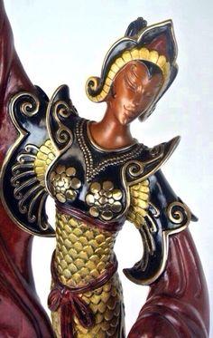 Erté - Sculpture - Statuette 'Indonésie'