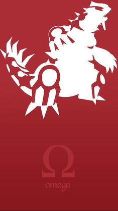 Omega groudon. Check out more Minimal Style Pokemon Wallpapers for iPhone. - @mobile9 #minimal #pokemon #fanart