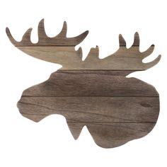 Moose Head Silhouette Wood Wall Art