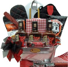 Bull's-Eye BBQ Grill Father's Day Gift Basket - Find your perfect gift today with Kudosz Gifts Bull's-Eye BBQ Grill Father's Day Gift Basket Giveaway – Gift Baskets – find your perfect g Theme Baskets, Themed Gift Baskets, Raffle Baskets, Fundraiser Baskets, Bbq Gifts, Grilling Gifts, Golf Gifts, Fathers Day Gifts, Healthy Recipes