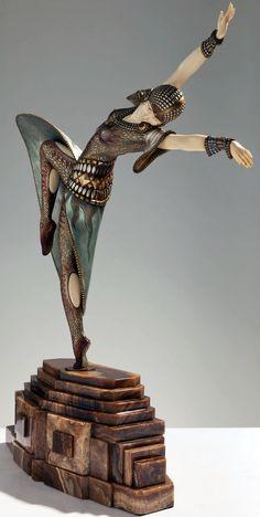 Demetre Chiparus - Art Déco - Sculpture 'Almeria' - 1920