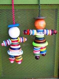 Bouton décoratif personnes