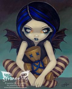 Art Print - Voodoo in Blue by Jasmine Becket-Griffith http://www.fairiesandfantasy.com/store/Jasmine-Becket-Griffith-Strangeling/