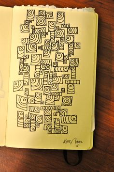 It would be interesting to fill in the boxes with different types of zentangles.