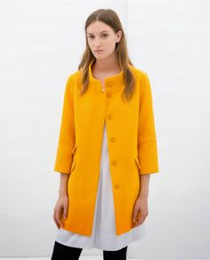 125a3a56 Zara Tangerine coat Blazer Jackets For Women, Blazers For Women, Coats For  Women,