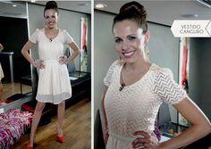 Denise Dumas en el programa Tendencia con el vestido Canguro de @Lacofradia_ropa