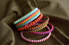 Macrame bangle tutorial