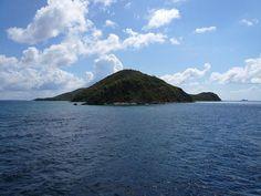 Peter Island viewed from the uninhabited Western tip