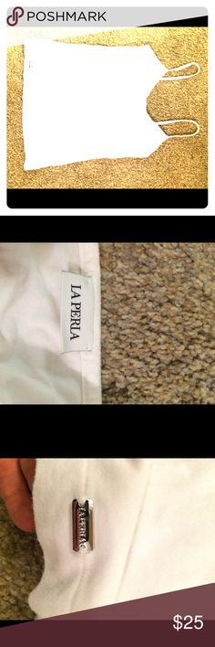 La perla camisole A staple for every closet...classic white cami for layering under fall sweaters. La Perla Tops Camisoles