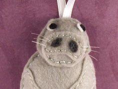 Felt Animal Ornament - Penelope the Manatee