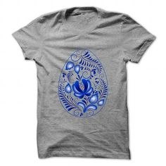 favorite Names Blue flower Easter eggs material Shirts & Tees