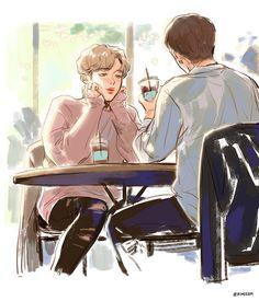 """""""cafe date ☕️ #BTS_69min"""""""