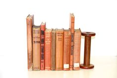 Burnt Orange ShadesShabby Chic Vintage Book Collection Home Decor on Etsy, $62.35 CAD