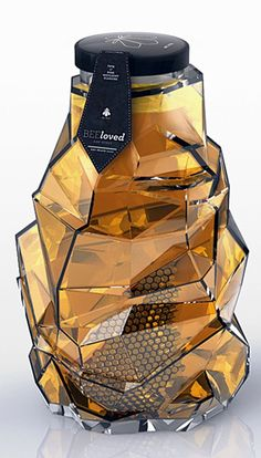 Honey packaging designed by Tamara Mihajlovic .  I've never seen commercial packaging so appealing.  It's a work of art!