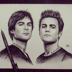 Image de damon, the vampire diaries, and stefan
