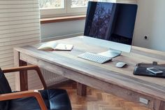 Check out Home office by Marian Kadlec on Creative Market Living Under A Rock, Wood Desk, Business Photos, Home Studio, Home Office Design, Good To Know, Office Desk, Corner Desk, Simple