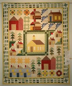 unique borders for quilts   love Joe Ann's use of stripes in her quilt, and the little touches ...