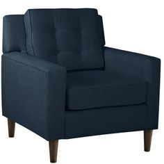 Skyline Furniture Arm Chair in Linen Navy | Overstock.com Shopping - The Best Deals on Living Room Chairs