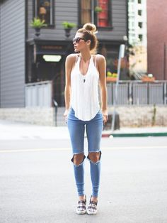 30 Summer Looks That Make You Want to Copy  http://www.ecstasycoffee.com/30-summer-looks-make-want-copy/  #summer #outfit
