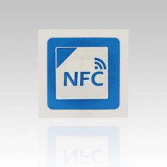Etiqueta engomada de la NFC : Tamaño de cuadrado de 25x25mm tipo 2 NFC Ntag203 pegatina con impresión de logotipo
