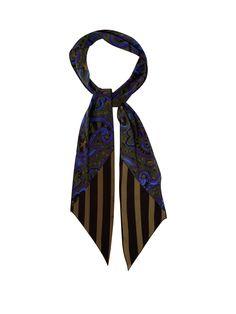 Star Paisley-print super-skinny silk scarf   Rockins   MATCHESFASHION.COM UK
