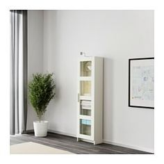 IKEA - BRIMNES, High cabinet with glass-door, white, , With a glass-door cabinet you can show off as well as protect your glassware or your favourite collection.Adjustable shelves, so you can customise your storage as needed.
