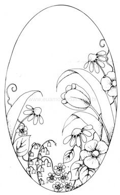 Awesome Most Popular Embroidery Patterns Ideas. Most Popular Embroidery Patterns Ideas. Easter Colouring, Colouring Pages, Adult Coloring Pages, Coloring Books, Art D'oeuf, Embroidery Patterns, Hand Embroidery, Free To Use Images, Parchment Craft