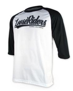 Loose Riders Herren FREERIDE WHITE Jerseys 3/4 arm.Sportwear,Bike,Radsport Style