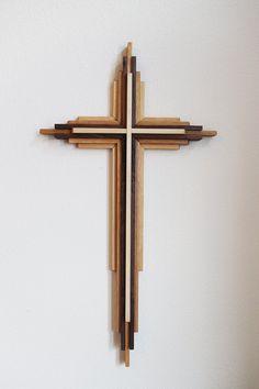 4 pie alta Cruz de madera por DenneheyDesign en Etsy