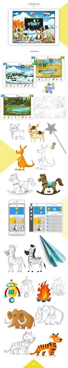 Imagine 8 app - illustrations