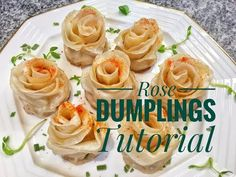 ♛[QQ's Kitchen ]Rose Dumplings Tutorial流涙玫瑰花餃,入口噴涙狂叫好! - YouTube