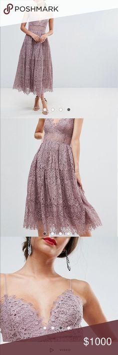 DISO ASOS lace cami midi Looking for exact midi in size 2-4 ASOS Dresses Midi
