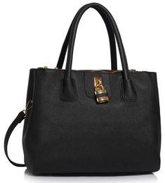 Black Three Zipper Grab Bag For Women - FREE Shipping