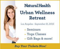 Buy your tickets now for Natural Health's Urban Wellness retreat on in Los Angeles. Health Retreat, Health And Wellness, Release Stress, Weight Control, Pain Management, Health Coach, Healthy Habits, Natural Health, Diabetes