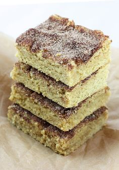 Delightful Bitefuls: Snickerdoodle Blondies