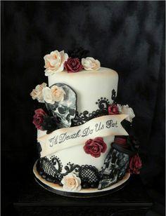 Awesome Gothic Birthday Cake ~.~