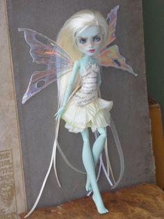 OOAK custom repaint Monster High Frankie Stein doll Book