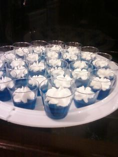creation day 2 waters and sky blue jello and whipped cream