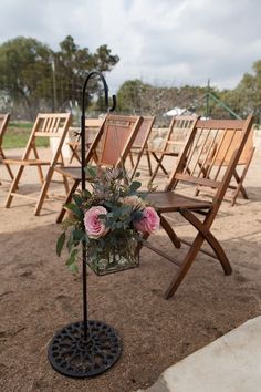 Wow Factor Floral's display at our open house outdoor wedding ceremony site