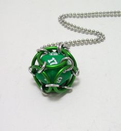 Magic the gathering mens necklace dice by Eternalelfcreations, $12.00