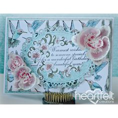 Heartfelt Creations - Pink Vellum Orchid Birthday Wishes Project