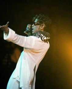 Prince plays at the Rose Garden arena in Portland on Sept. 28, 1997, as part of his 'Jam of the Year' tour. At the time, Prince identified himself simply as The Artist (following a time when he went by 'The Artist formerly known as Prince.') Brent Wojahn/The Oregonian