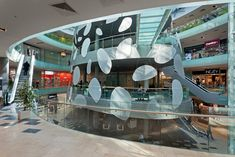 Image 10 of 22 from gallery of Ave Plaza / Drozdov&Partners. Photograph by Andrey Avdeenko Mall Design, Retail Design, Retail Architecture, Shopping Malls, Atrium, Shopping Center, Plaza, Installation Art, Lighting Design