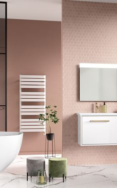 Our high-quality signature finishes and textures enable you to create the bespoke bathroom of your dreams. Small Luxury Bathrooms, Bathroom Design Luxury, Dream Bathrooms, Pink Bathrooms, Small Bathroom With Shower, Blush Bathroom, Simple Bathroom, Master Bathroom, Tranquil Bathroom
