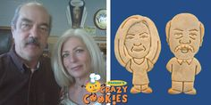 Parker's Crazy Cookies designs personalized cookies of people, pets & logos for special events. The most unique custom party favor on Planet Earth 40th Wedding Anniversary Party Ideas, Mom Dad Anniversary, Anniversary Parties, Anniversary Ideas, Wedding Ideas, Personalized Cookies, Custom Cookies, Crazy Cookies, Freundlich