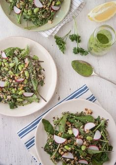 Recipe: Green Goddess Quinoa Salad Bowl — Healthy Lunch Recipes from The Kitchn | The Kitchn