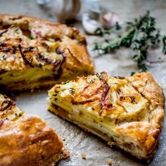 This buttery flaky galette is filled with potatoes caramelized onions thyme and sage and tons of Asiago. Bite Size Appetizers, Holiday Appetizers, Best Appetizer Recipes, Best Appetizers, Appetizer Ideas, Milk Recipes, Cooking Recipes, Galette Recipe, Le Diner