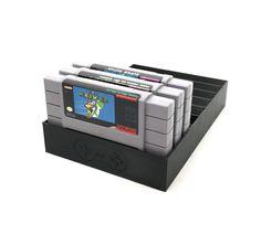 Black SNES Game Tray