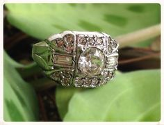 Art Deco Clark and Coombs Sterling Rhinestone by Rubyapplevintage, $88.00