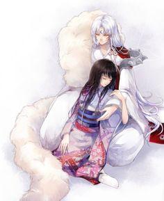 InuYasha - Sesshomaru and Rin Rin And Sesshomaru, Inuyasha And Sesshomaru, Anime Amor, Manga Anime, Tenten Naruto, Manga Illustration, Illustrations, Miroku, Kamigami No Asobi